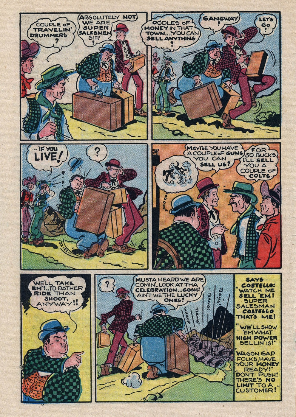 Funny Comic Strips - Abbott and Costello 001 (Feb 1948) 4