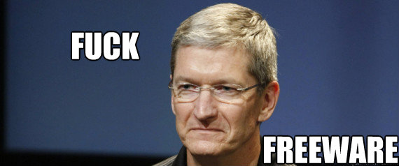 Face of Angry Tim Cook