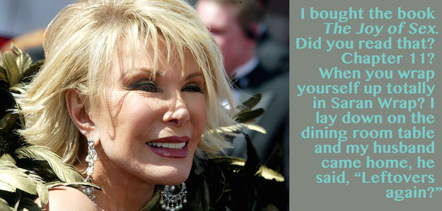 Joan Rivers jokes about the Book called the Joy of Sex