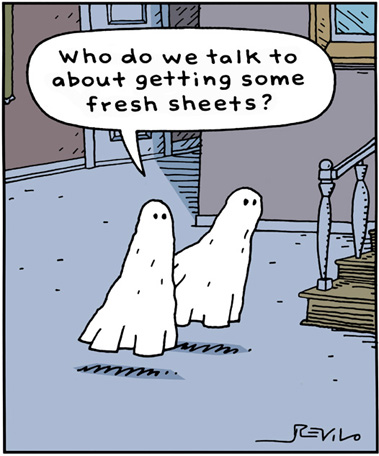 Ghost Jokes About Fresh Sheets