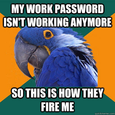 Funny Pictures of Paranoid Parrot - Work Password