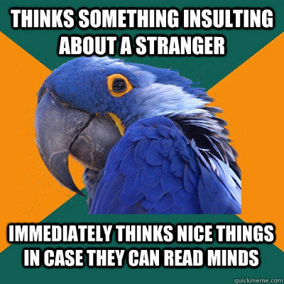 Funny Pictures of Paranoid Parrot - Thinking Something Insulting About A Stranger