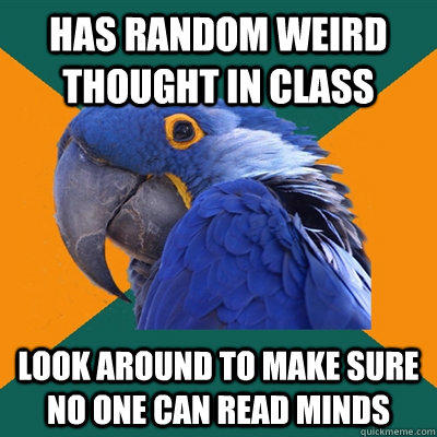 Funny Pictures of Paranoid Parrot - Random Weird Thought