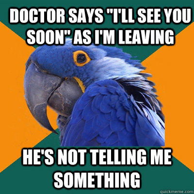Funny Pictures of Paranoid Parrot - Sneaky Doctor