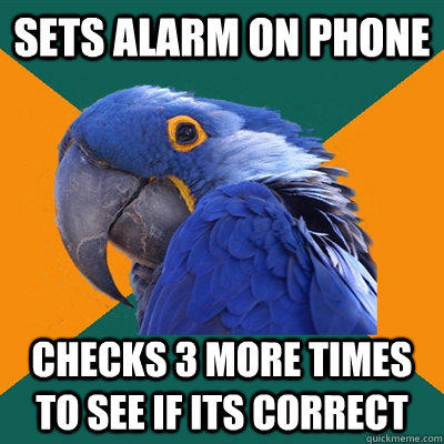 Paranoid Parrot About Phone Alarm - Funny Pictures