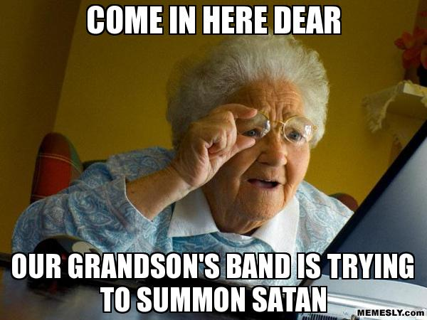 band-trying-to-summon-devil-funny-meme