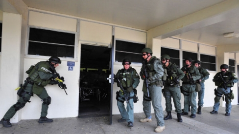 police raid California high school