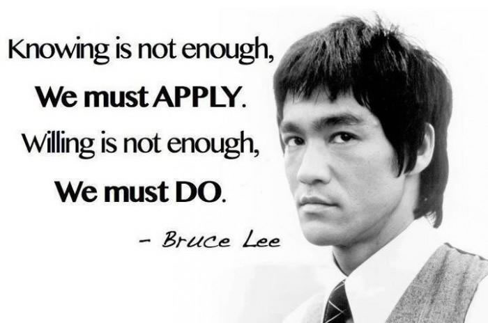 Famous Bruce Lee Quotes About Knowing