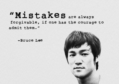 Famous Bruce Lee Quotes About Mistakes
