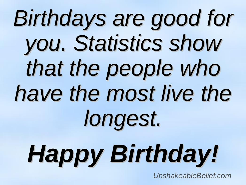really funny birthday quotes about statistics