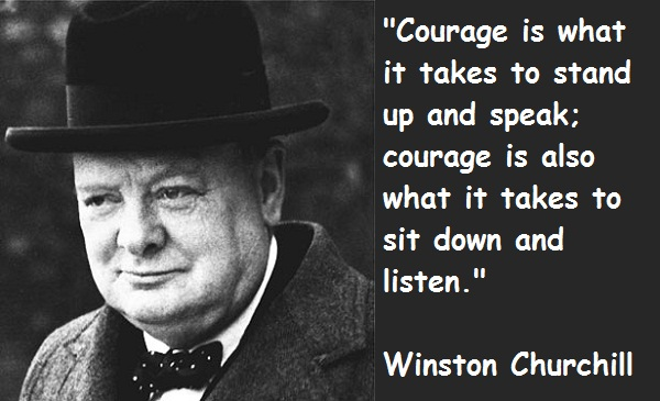 Famous Winston Churchill Quotes About Courage