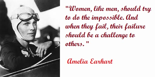 famous Amelia Earhart Quotes about women