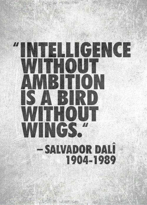 Salvador Dali Quotes About Intelligence