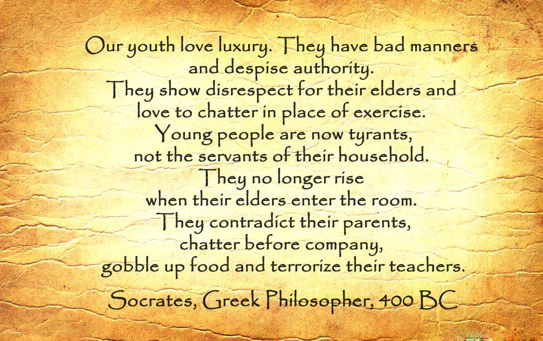 famous Socrates quote on youth