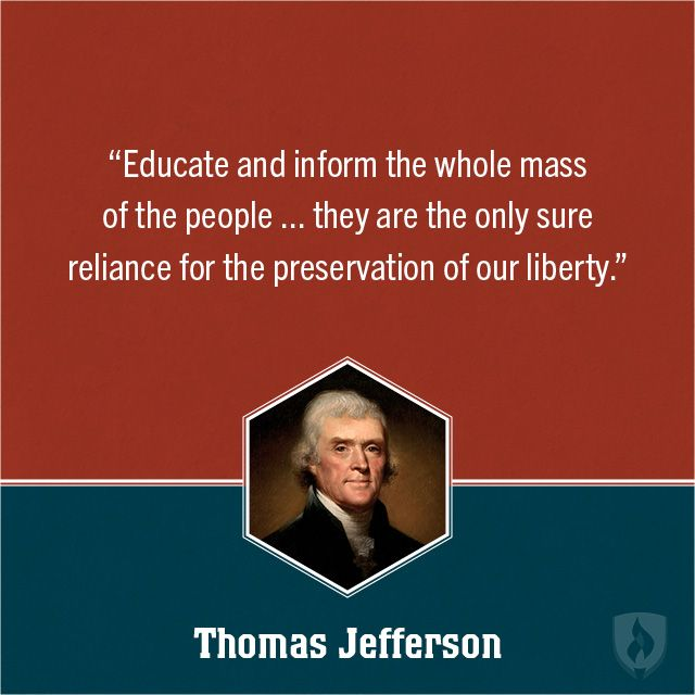 Famous Thomas Jefferson Quotes On Education