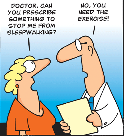 medical humor about sleepwalking