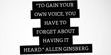Allen Ginsberg Quotes About Gaining Your Own Voice