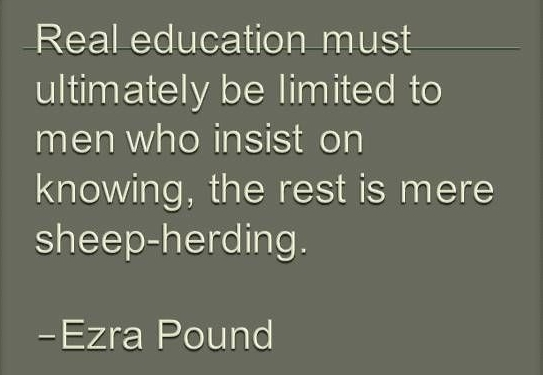 Ezra Pound Quotes About Education