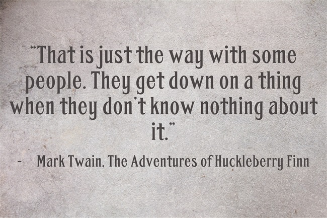 The Adventures Of Huckleberry Finn Quotes About People