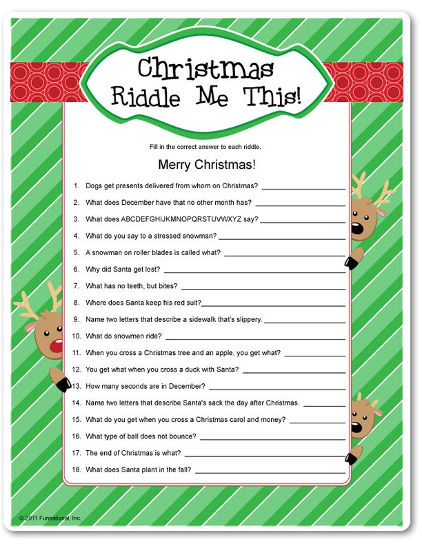 Funny Christmas Riddles