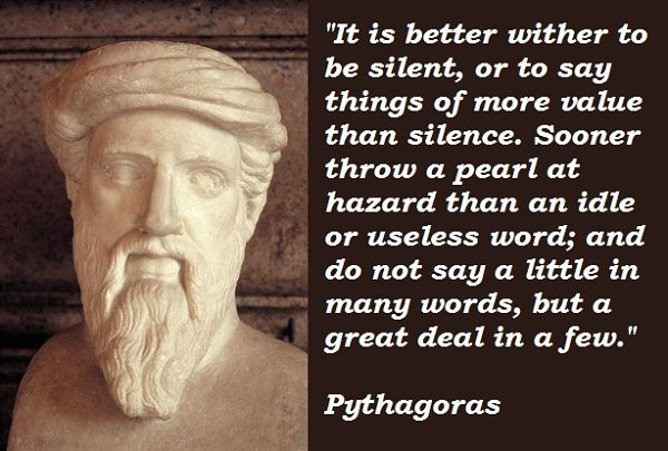 Pythagoras Quotes About Silence