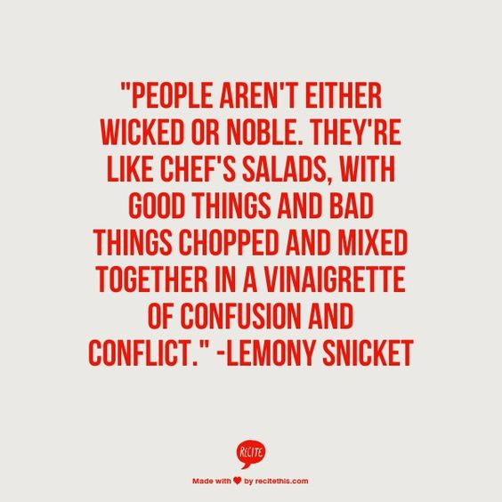Lemony Snicket Quotes About The Nature Of People