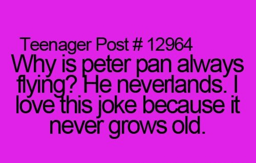 Corny Humor About Peter Pan