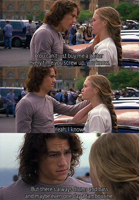 Larisa Oleynik with Heath Ledger character in 10 Things I Hate About You