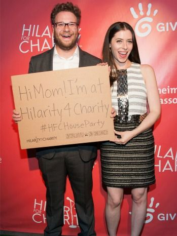 Seth Rogen and his wife at 2nd Annual Hilarity for Charity Event